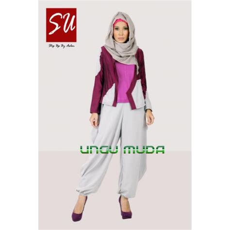 Gamis Katun Ungu Muda su dianah ungu muda baju muslim gamis modern