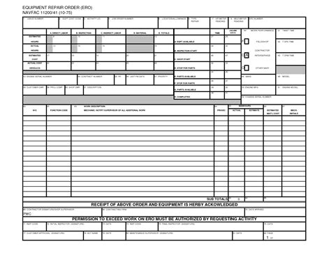 equipment order form template equipment order form template gallery template design ideas