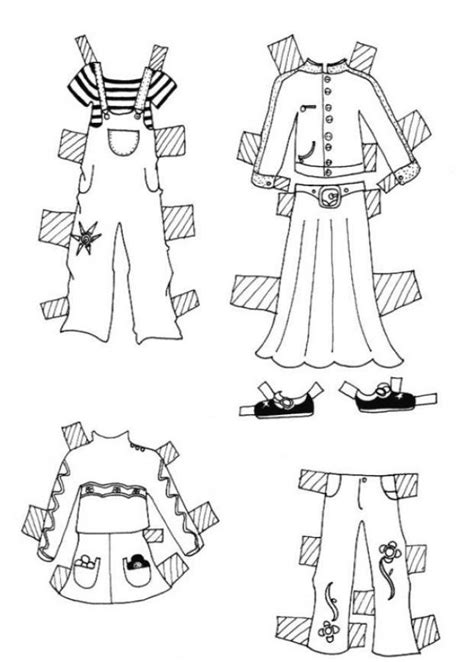 girl clothes coloring page paper doll clothes clothes for girl model