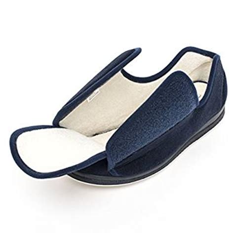 adjustable health slippers memory foam wide slippers edema shoes
