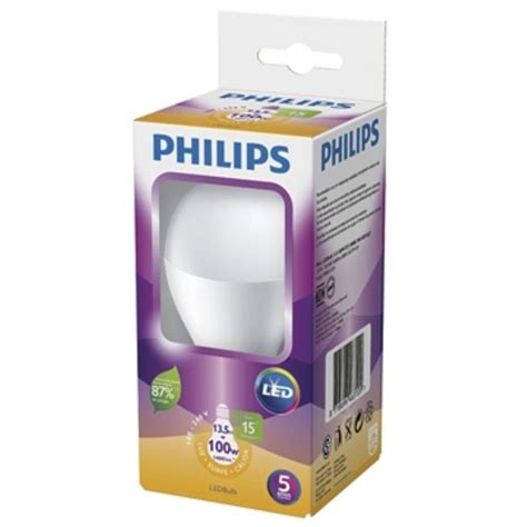 Lu Led Philips Jogja l 226 mpada led bulbo 13 5w e27 amarela 3000k 15000h philips