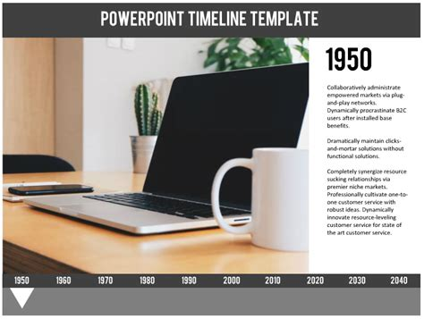 powerpoint template interactive timeline