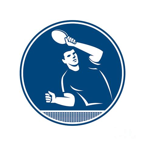 Circle Serving table tennis player serving circle icon digital by