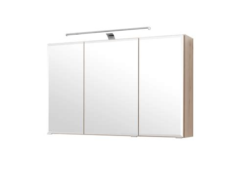 badezimmer spiegelschrank buche bad spiegelschrank 3 t 252 rig mit led aufbauleuchte 100