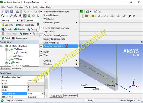 ansys section view ansys section view 28 images تحلیل یک تیر ساده در
