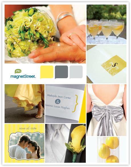 color monday gray yellow weddings