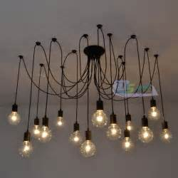 Diy Industrial Chandelier Vintage Edison Industrial Style Diy Chandelier Retro Pendant Light Ceiling Ls Ebay