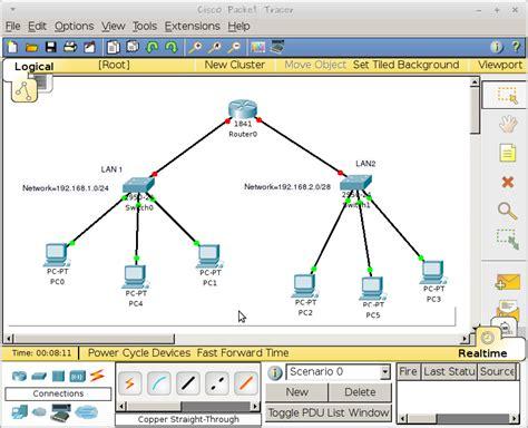 tutorial menggunakan cisco packet tracer membangun simulasi jaringan router menggunakan cisco
