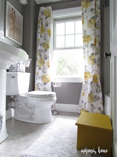 yellow bathroom ideas really gray and yellow bathroom with vintage style