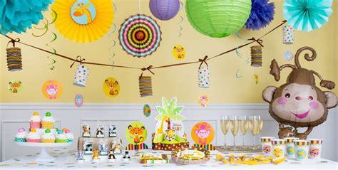 Partycity Baby Shower by Fisher Price Jungle Baby Shower Decorations City