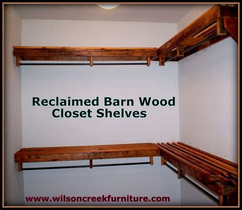 barn wood closet shelves reclaimed wood bedroom