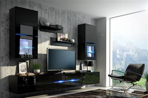 Living Room Set With Tv Wall Unit Bilbao Furniture