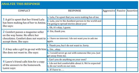 printable assertiveness quiz all worksheets 187 passive aggressive and assertive