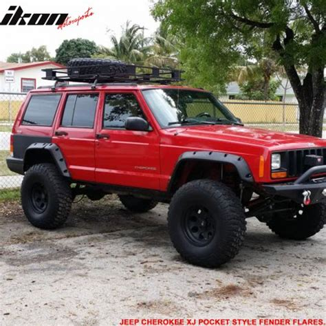 wide jeep 84 01 jeep xj pocket style wide fender flare 6pcs