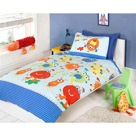 childrens bedroom bedding sets boys monster duvet cover kids quilt cover multi coloured