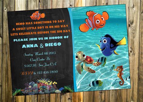 Finding Nemo Invitations Template by Free Printable Finding Dory Invitations Ideas Drevio