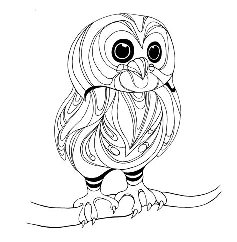 coloring page baby owl owls to color on pinterest owl coloring pages owl and