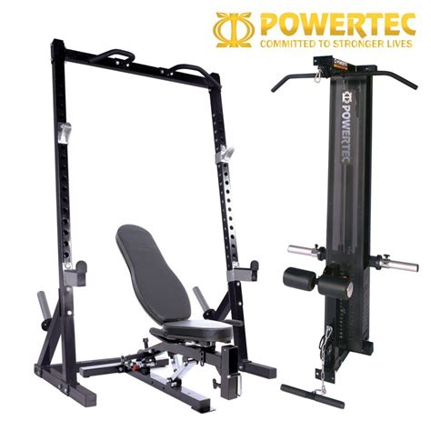 lat bench powertec half rack package half rack lat attachment