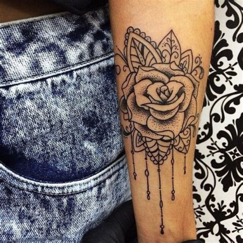 cute rose tattoos tumblr girly arm with