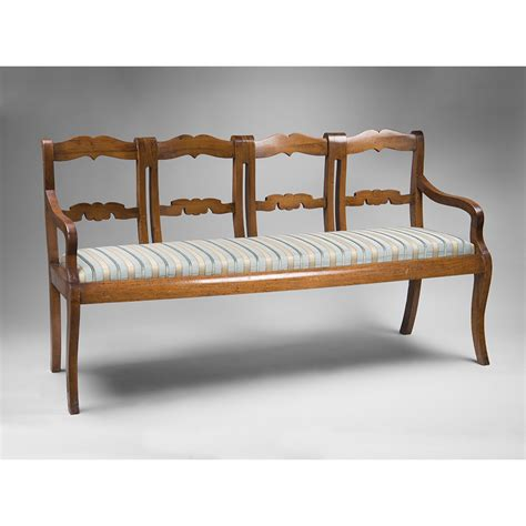 french provincial settee early 19th c french provincial chestnut four part settee