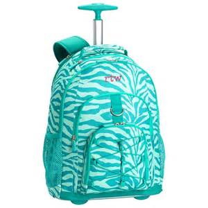 Gear up ceramic pool tonal zebra rolling backpack