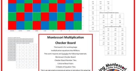 printable montessori checkerboard quot making montessori ours quot multiplication checker board