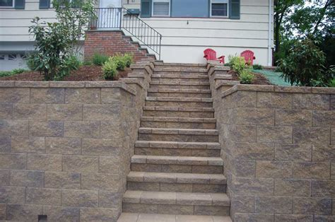 Retaining Wall Stairs Design Cornerstone 100 Stairs How To Build