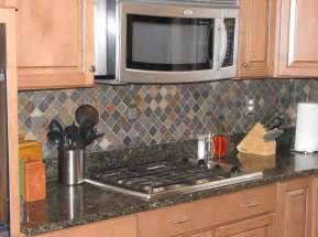 Multi Colored Backsplash - ceramictec multi color tumbled slate kitchen backsplash