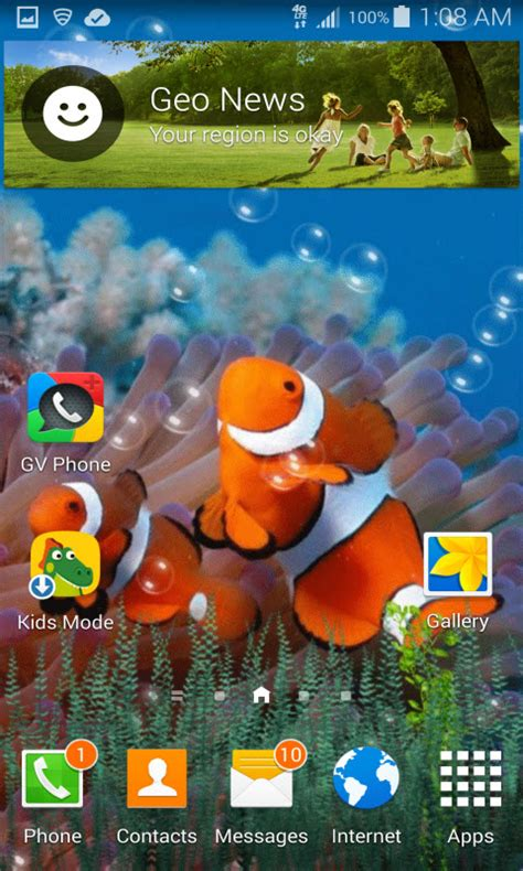 fish live wallpaper apk free underwater clown fish live wallpaper apk for android getjar