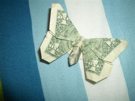 Money Butterfly Origami - dollar bill origami butterfly