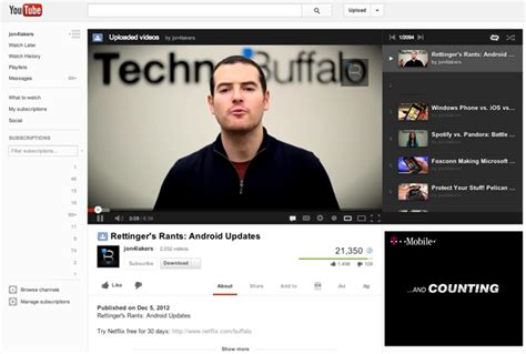 layout video youtube youtube rolls out new video page layout and guide feature