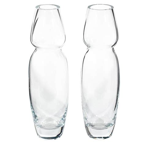 Waterford Vases On Sale by Handblown Ovoid Vases For Marquis By Waterford Pair For Sale At 1stdibs