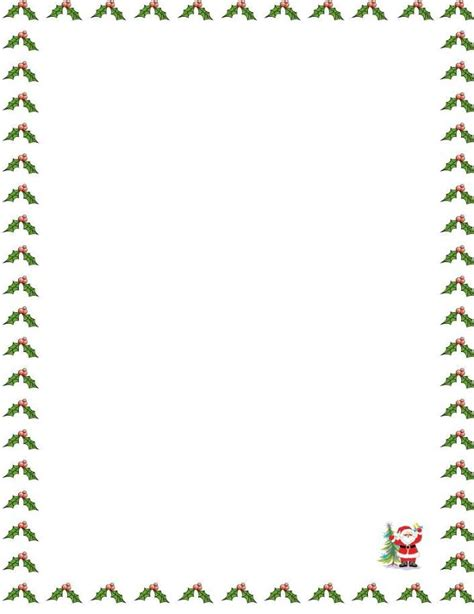 Letter Border Templates 1000 X 1320 151 Kb Jpeg Santa Border 600 Silhouette Cameo Pinterest Free Letter Background Template