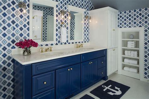 blue bathroom cabinet blue vanity contemporary bathroom benjamin moore