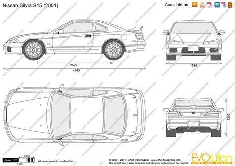 nissan silvia drawing the blueprints com vector drawing nissan silvia s15