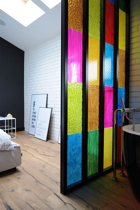 Bathroom Partition Ideas Bedroom Bathroom Partition In Colored Plastic Panels Diy