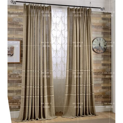 long bedroom curtains coffee patterned embroidery burlap country bedroom long