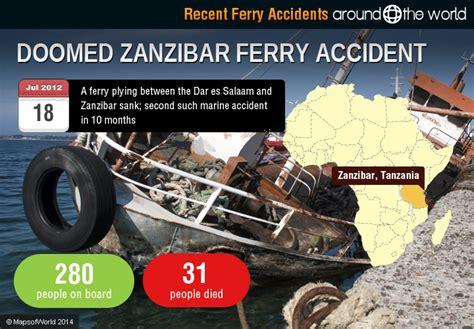 boat accident zanzibar recent ferry accidents around the world around the world
