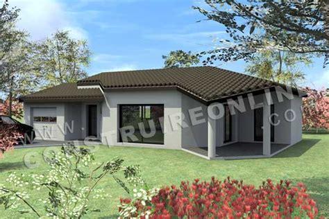 Modele maison moderne plain pied ventana