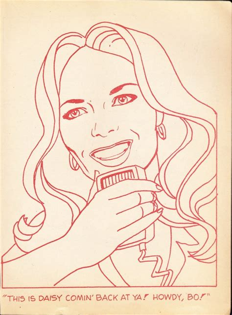coloring book page daisy duke dukes of hazzard catherine bach