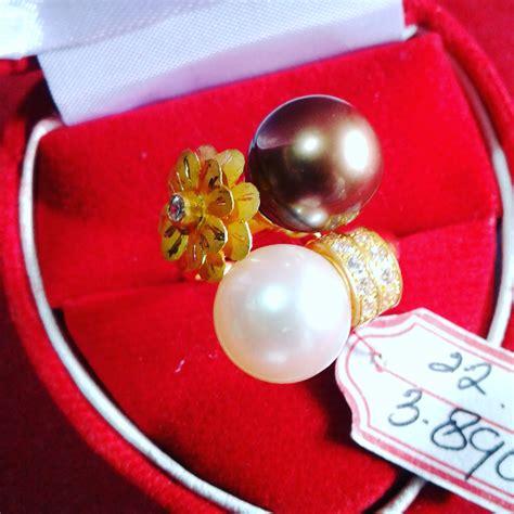 Mutiara Asli Lombok Flower Ring handmade gold ring with south sea pearl cez 12 info harga perhiasan mutiara lombok dari toko