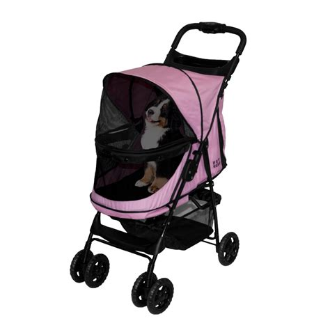 stroller petco pet gear happy trails no zip pet stroller in pink petco