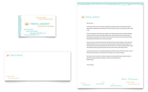 Travel Agency Business Card & Letterhead Template   Word