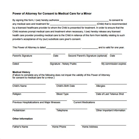 sle medical power of attorney form 10 free documents