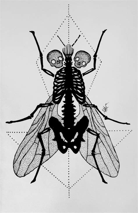dotwork tattoo designs fly dotwork by marymarylp on deviantart