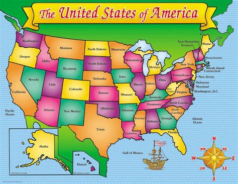 map of the united states kid friendly u s a map friendly chart