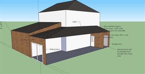 Kitchen Extensions Ideas Photos Single Storey Side Extension With Sloped Roof 10x2m