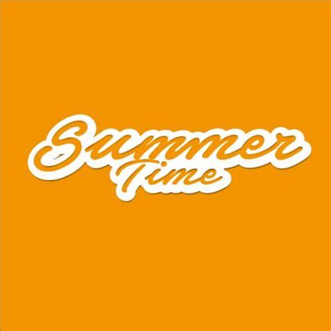 free logo design with text summer time text logos design vector 01 vector logo free