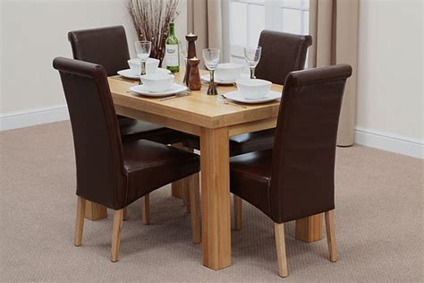 Oak Dining Sets Contemporary Chunky 4ft Oak Dining Chunky Solid Oak Dining Table And 6 Chairs