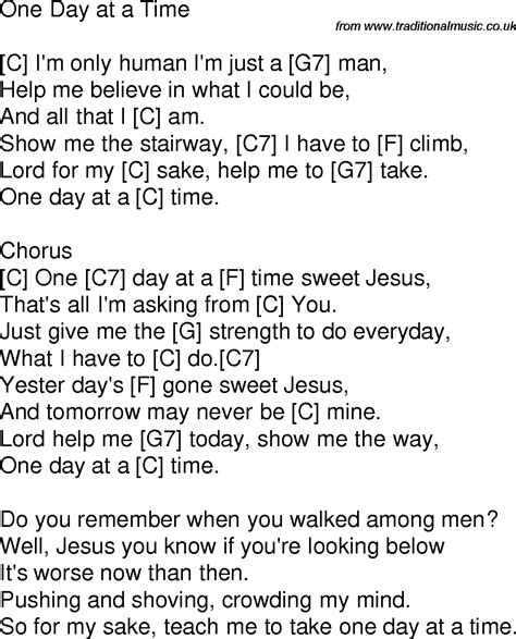 lyrics day is time song lyrics with guitar chords for one day at a